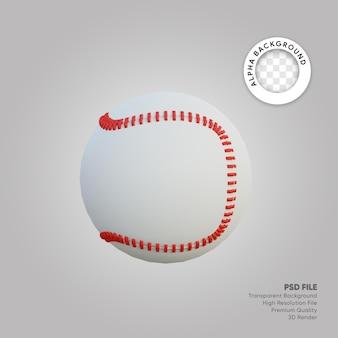 Ilustracja 3d piłki baseballowej