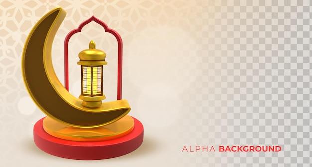 Ilustracja 3d. realistyczny islamski nowy rok