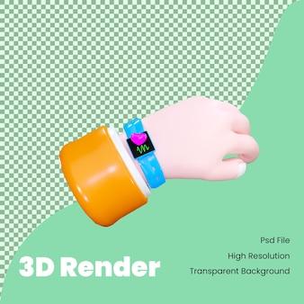 Ilustracja 3d renderowania inteligentnego zegarka