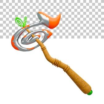 Ilustracja 3d renderowania wojownika miecza