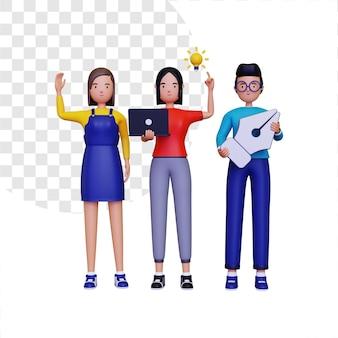 Ilustracja 3d społeczności projektantów