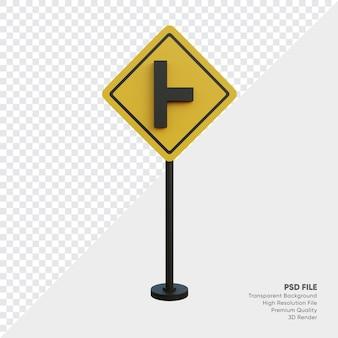 Ilustracja 3d znaku drogowego