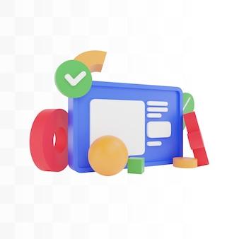 Ilustracja koncepcja projektowania strony internetowej