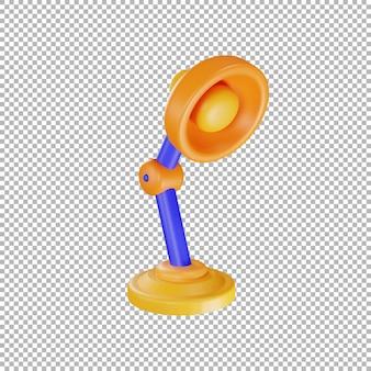Ilustracja lampy stołowej 3d