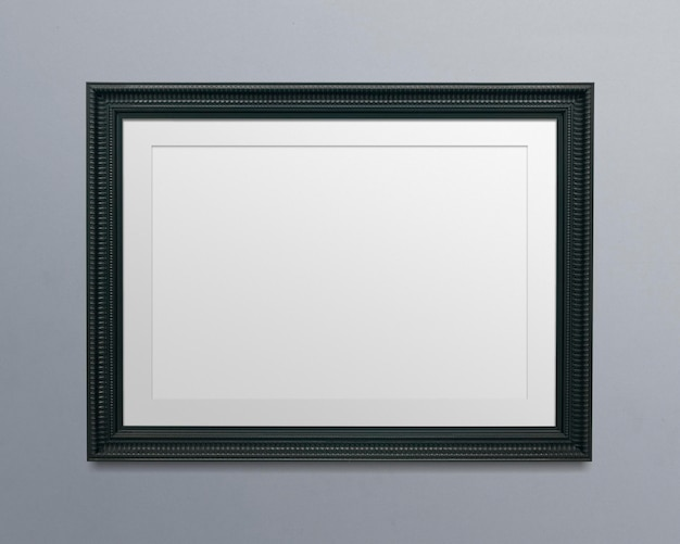 Ilustracja makieta czarnej ramki na zdjęcia