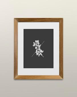 Ilustracja makieta drewnianej ramki na zdjęcia