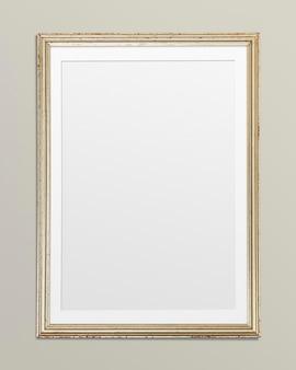 Ilustracja makieta złotej ramki na zdjęcia