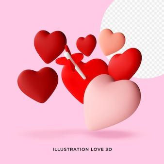 Ilustracja miłość 3d