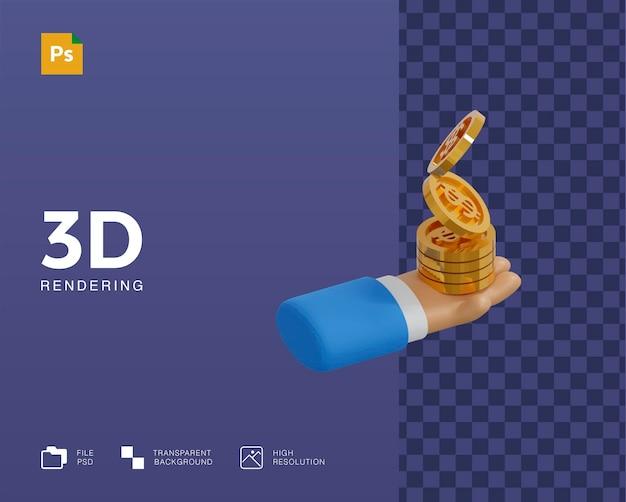 Ilustracja pieniędzy w 3d