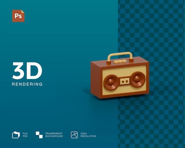Ilustracja radia 3d