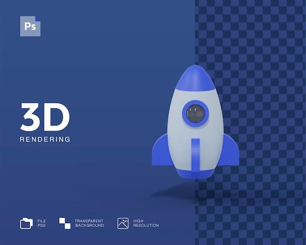 Ilustracja rakiety 3d