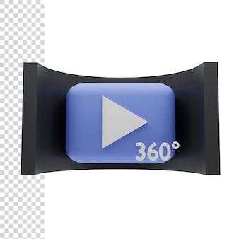 Ilustracja renderowania 3d sferyczne 360 stopni vr
