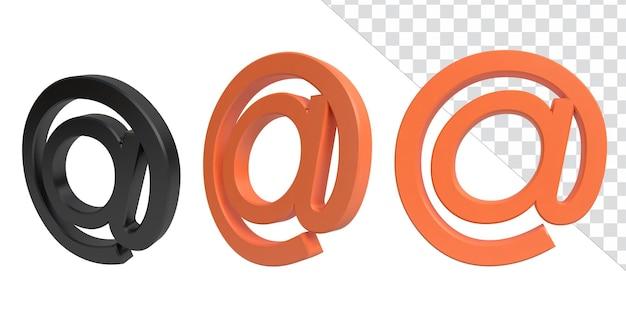 Ilustracja renderowania ikony 3d informacje biznesowe znak wodny