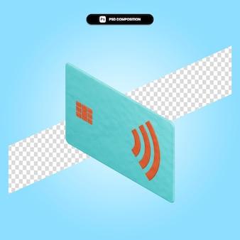 Ilustracja renderowania karty 3d na białym tle