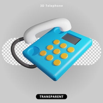 Ilustracja telefonu renderowania 3d