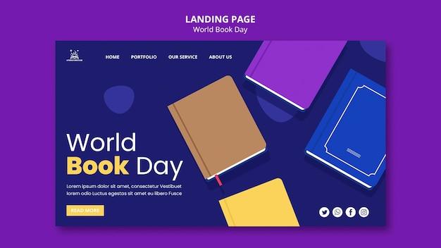 Ilustrowana strona docelowa światowego dnia książki