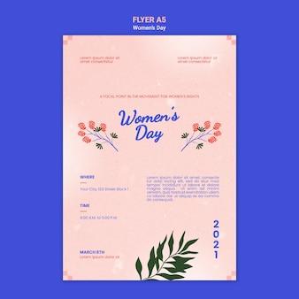 Ilustrowany piękny szablon plakatu na dzień kobiet