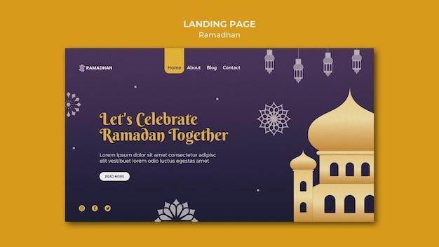 Ilustrowany szablon sieci web ramadan kareem