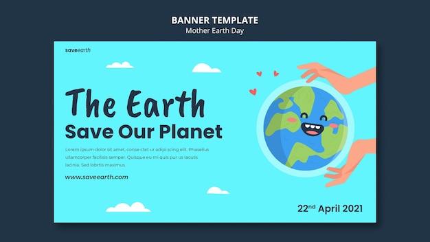 Ilustrowany szablon transparent dzień matki ziemi