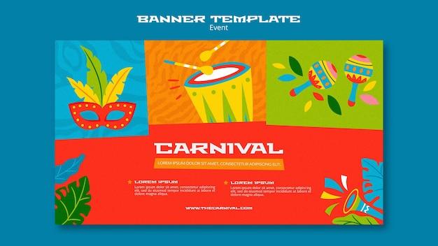 Ilustrowany szablon transparent karnawałowy