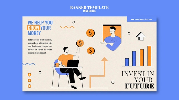 Ilustrowany szablon transparentu inwestycyjnego