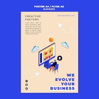 Ilustrowany szablon wydruku biznesowego