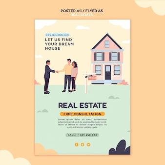 Ilustrowany szablon wydruku nieruchomości