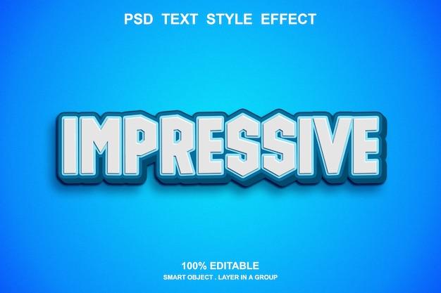 Imponujący efekt tekstowy