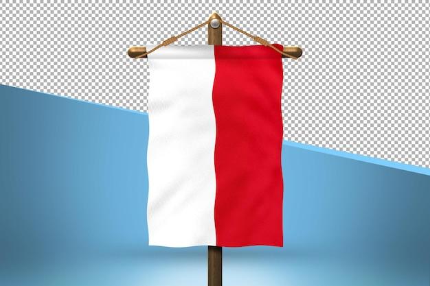 Indonezja powiesić projekt flagi w tle