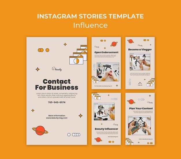Influencer historie z mediów społecznościowych