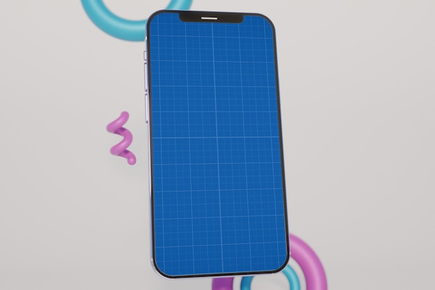 Innowacyjny szablon makiety smartfona