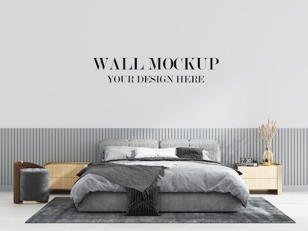 Inspirująca nowoczesna makieta ścienna do sypialni