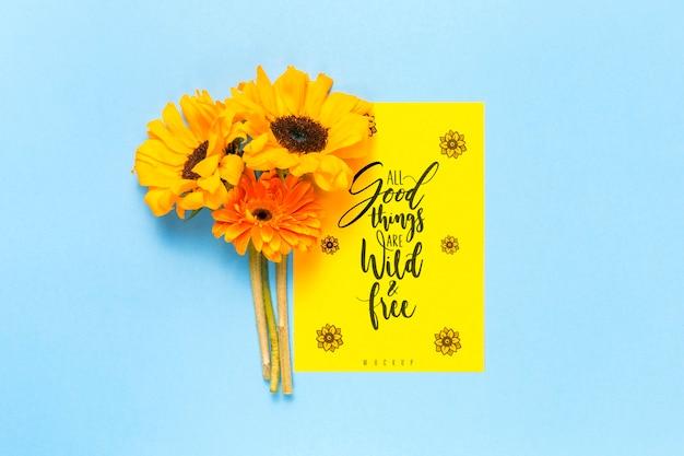 Inspirujące przesłanie z kwiatami