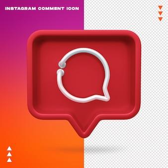Instagram komentarz ikona neon na białym tle