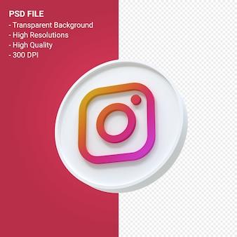 Instagram logo 3d ikona renderowania na białym tle