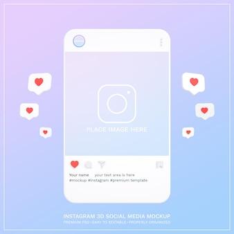 Instagram post mockup 3d design