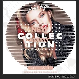 Instagram post template do sprzedaży, zakupów, sklepu, kampanii, koncepcji kolekcji