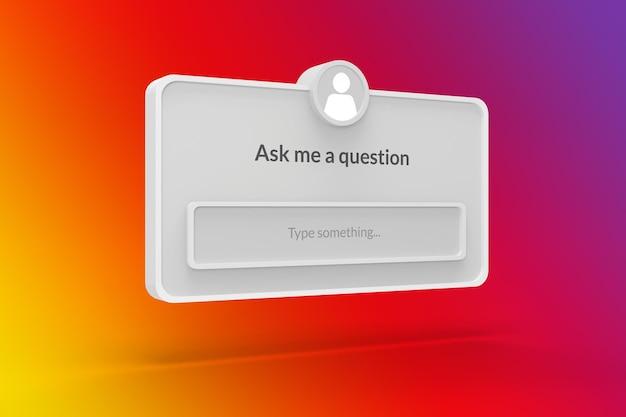 Instagram w mediach społecznościowych zadaj mi szablon formularza pytania na instagramie