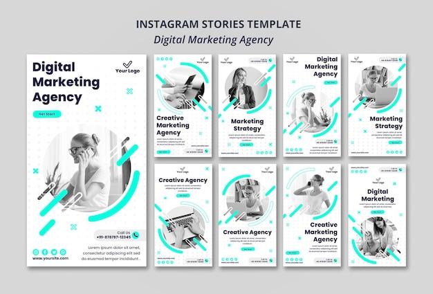 Instagramowe historie agencji marketingu cyfrowego
