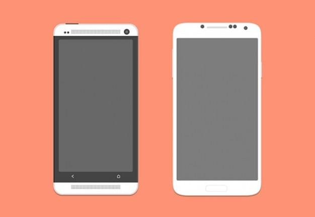 Inteligentne makiety telefonów psd