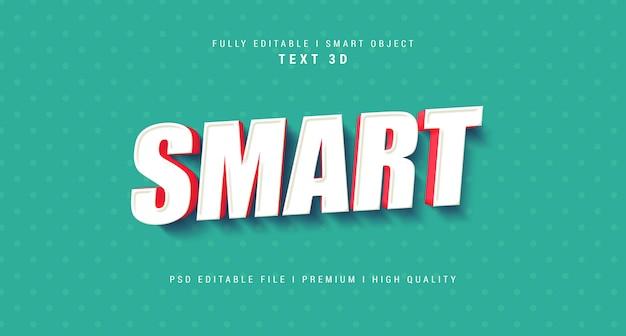 Inteligentny efekt tekstowy szablon psd