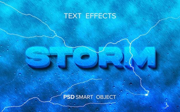 Inteligentny obiekt z efektem tekstowym burzy