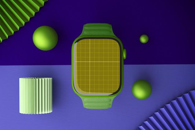 Inteligentny zegarek widok z góry