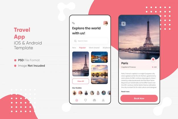 Interfejs aplikacji podróży