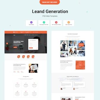 Interfejs internetowy generowania potencjalnych klientów