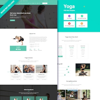Interfejs internetowy klubu jogi i fitnessu
