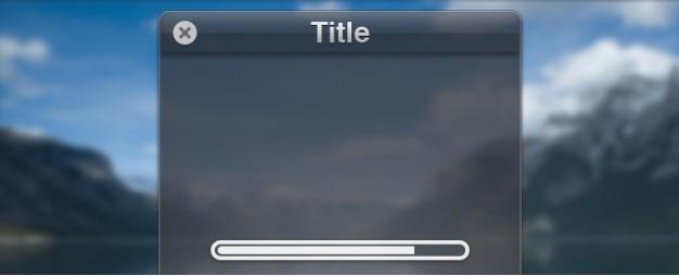 Interfejs okno z loading bar progress