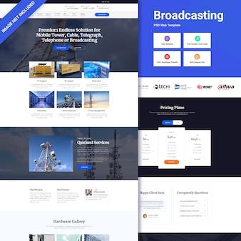 Interfejs strony internetowej nadawania