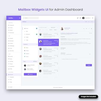 Interfejs użytkownika widżetów skrzynki pocztowej dla panelu administratora