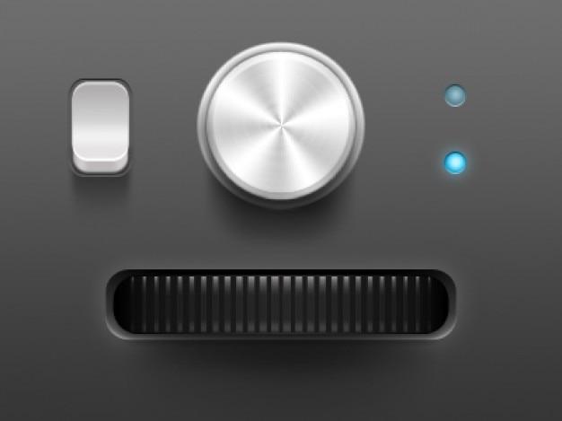 Interfejs użytkownika z małych przycisków